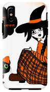Sitting Halloween Witch IPhone X Tough Case