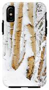 Snow Covered Birch Trees IPhone X Tough Case