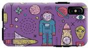 Space Planets Stars Cosmonaut Design IPhone X Tough Case