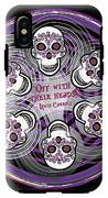 Spinning Celtic Skulls In Purple IPhone X Tough Case