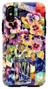 Stained Glass Pansies IPhone X Tough Case