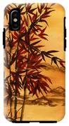 Sumi-e Red Bamboo IPhone X Tough Case