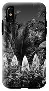 Surf Board Fence Maui Hawaii Black And White IPhone X Tough Case