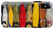 Surf Board Fence Maui Hawaii IPhone X Tough Case