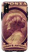 Susan B Anthony Commemorative Postage Stamp IPhone X Tough Case