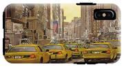 taxi a New York IPhone X Tough Case