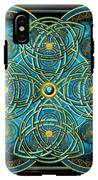 Teal Blue And Gold Celtic Cross IPhone X Tough Case