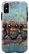 Three Little Night Owls IPhone X Tough Case