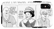 Three Panel Cartoon Of Online Dating Profiles IPhone X Tough Case