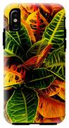 Tropical Croton Vignette IPhone X Tough Case