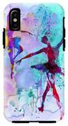 Two Dancing Ballerinas Watercolor 2 IPhone X Tough Case