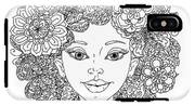 Uncolored Girlish Face For Adult IPhone X Tough Case