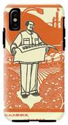 Vector Of Chairman Mao Related Poster IPhone X Tough Case