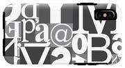 Vector Typography Blocks IPhone X Tough Case