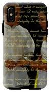 Vein Of Love Poem IPhone X Tough Case