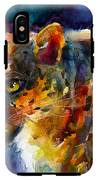 Vibrant Watercolor Leopard Wildlife Painting IPhone X Tough Case