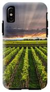 Vineyard At Sunset IPhone X Tough Case