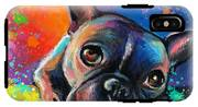 Whimsical Colorful French Bulldog  IPhone X Tough Case