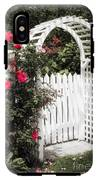 White Arbor With Red Roses IPhone X Tough Case