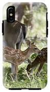 White-tail Twins Portrait IPhone X Tough Case