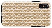 White Triangles On Burlap IPhone X Tough Case