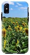 Windblown Sunflowers IPhone X Tough Case