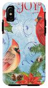 Winter Blue Cardinals-joy Card IPhone X Tough Case