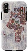 World Map Typography Artwork IPhone X Tough Case