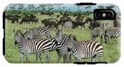 Zebra And Wildebeest Grazing Masai Mara IPhone X Tough Case