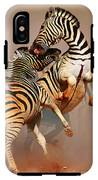 Zebras Fighting IPhone X Tough Case
