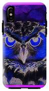 2011 Dreamy Horned Owl Negative IPhone X Tough Case