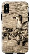 Baby Ducks - Sepia IPhone X Tough Case