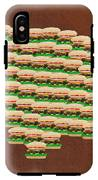 Burger Town Usa Map Brown IPhone X Tough Case