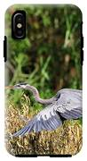 Heron Flying Along The River Bank IPhone X Tough Case