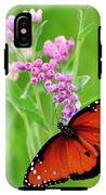 Queen Butterfly And Pink Flowers IPhone X Tough Case