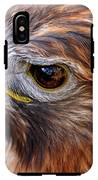 Red-tailed Hawk Close Up IPhone X Tough Case