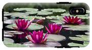 Red Water Lillies IPhone X Tough Case