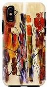 Figurative Abstract African Couple Reproduction On Gallery Wrapped Canvas  IPhone X Tough Case