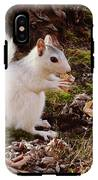 White Squirrel With Peanut IPhone X Tough Case