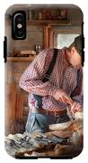 Woodworker - Carving - Carving A Duck IPhone X Tough Case