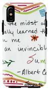 Albert Camus Doodle Quote IPhone X Tough Case