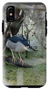 Black Crowned Night Heron IPhone X Tough Case