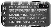 Bucharest Famous Landmarks IPhone X Tough Case