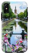 Canal And Decorated Bike In The Hague IPhone X Tough Case