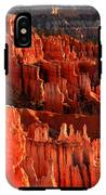 Red Glow On Hoodoos Of Bryce Canyon IPhone X Tough Case
