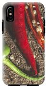 Red Hot Peppers On Wooden  Cutting Board IPhone X Tough Case