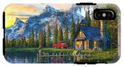 Sunset At Log Cabin IPhone X Tough Case