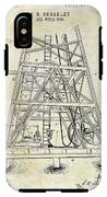 1893 Oil Well Rig Patent IPhone X Tough Case