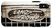 1952 Land Rover 80 Grille  Emblem -0988s2 IPhone X Tough Case
