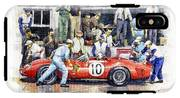 1961 Le Mans 1961 Ferrari 250 Tri Olivier Gendebien Phil Hill Winner  IPhone X Tough Case